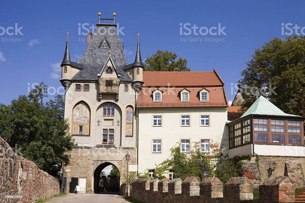 Gate of the Albrechtsburg castle in Meissen royalty-free stock photo