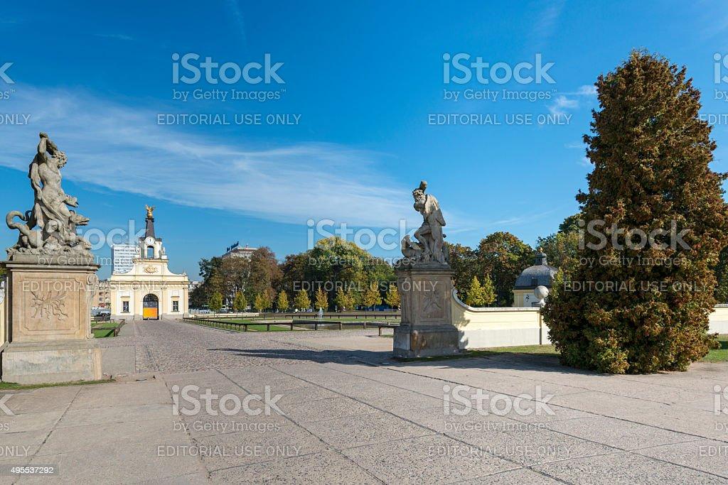 Gate of the Branicki Palace stock photo
