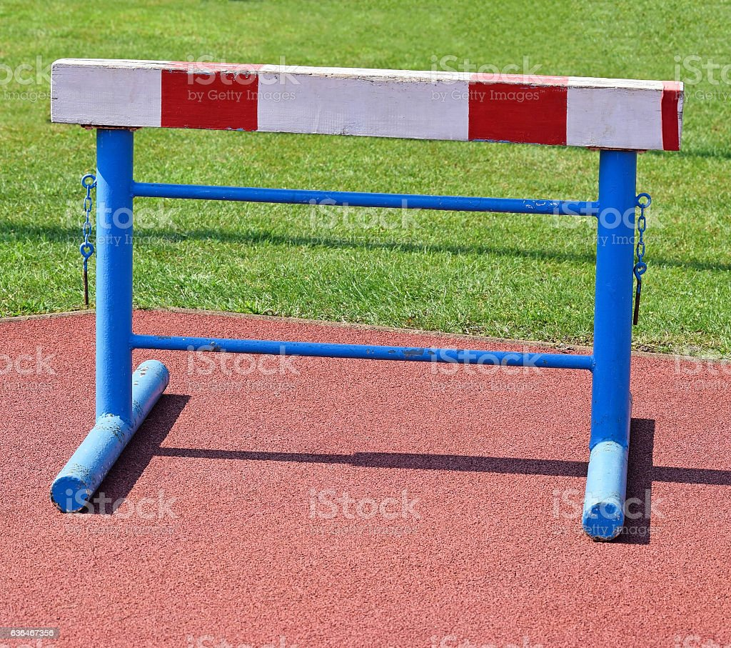 Gate of the hurdling sport stock photo