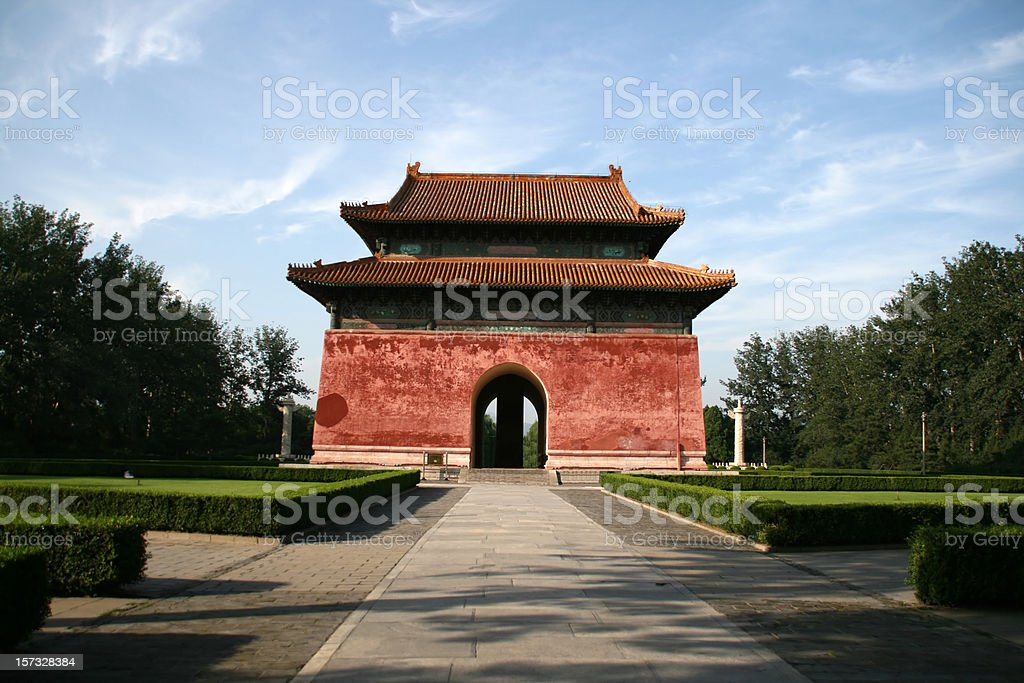 Gate of the sacred walk (Ming Dynasty Tombs) royalty-free stock photo