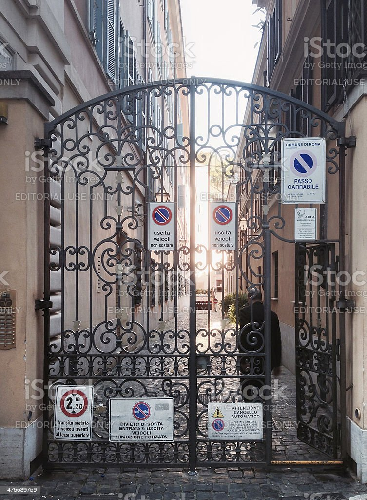 Gate of the seven signs stock photo