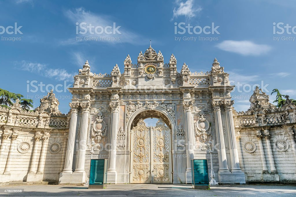 Gate of The Sultan, Dolmabahce Palace, Istanbul, Turkey stock photo
