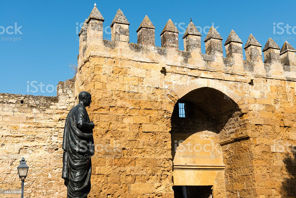 Gate on the medieval wall of Cordoba, Spain stock photo