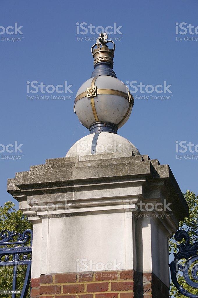 Gate Post to Noble Estate royalty-free stock photo
