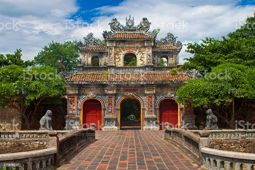 Gate to a Citadel in Hue stock photo