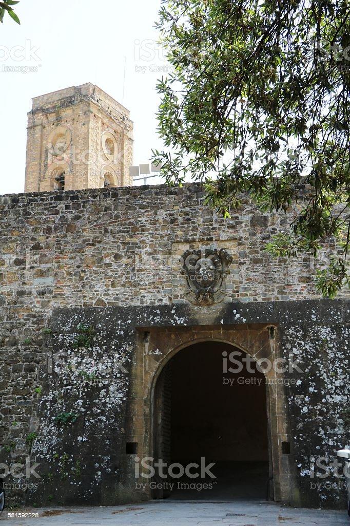 Gate to Abbazia di San Miniato al Monte, Florenz Italy stock photo