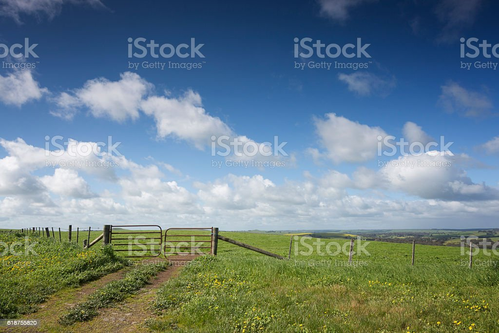 Gate to Country stock photo