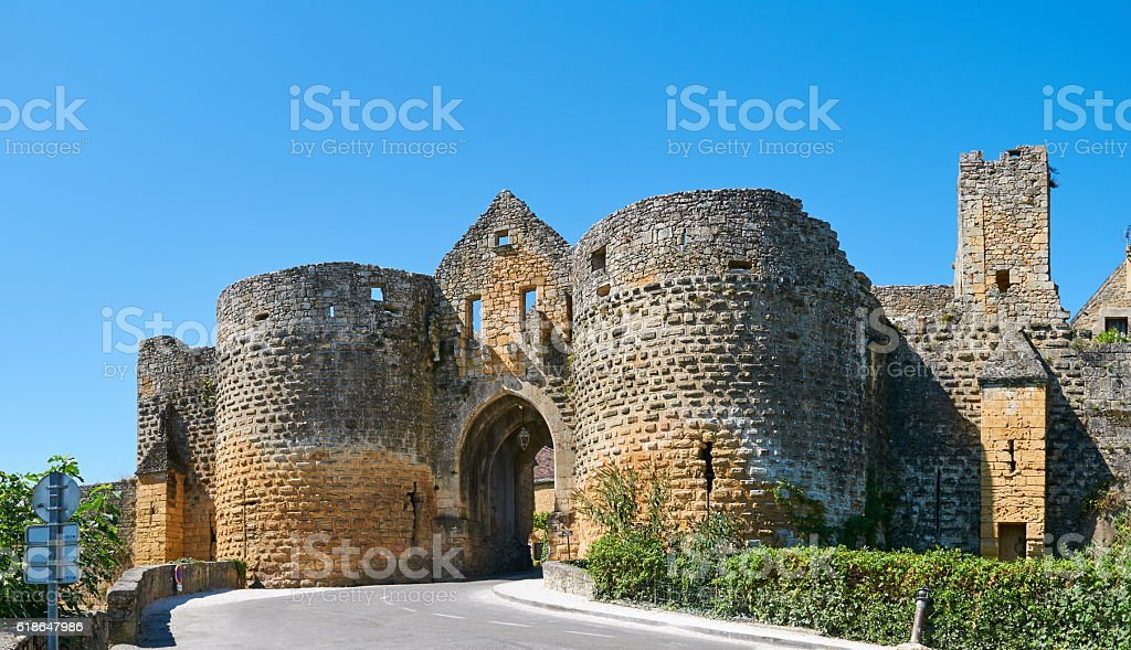 Gate to Domme stock photo