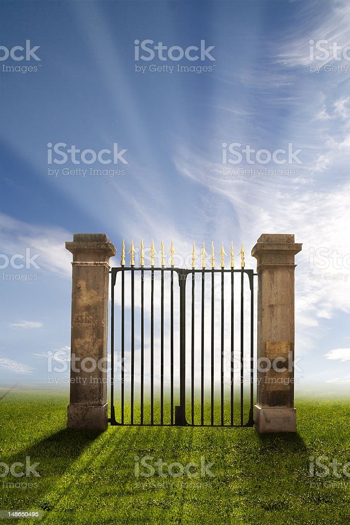 Gate to Heaven royalty-free stock photo
