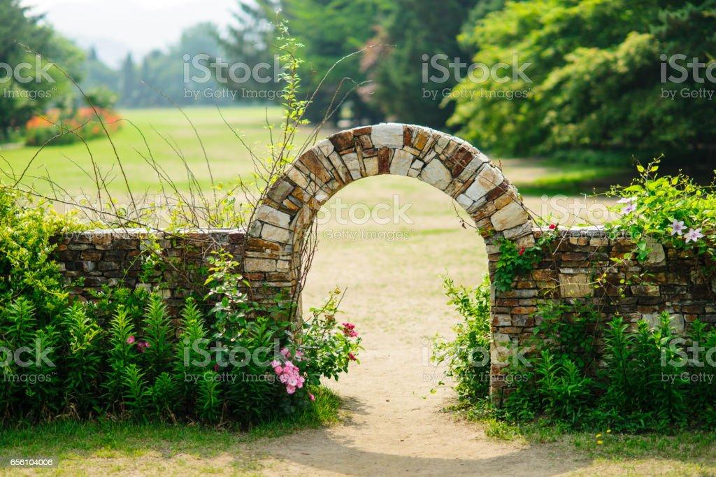 gate to heaven stock photo