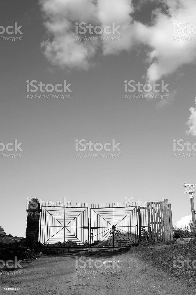gate to nowhere royalty-free stock photo
