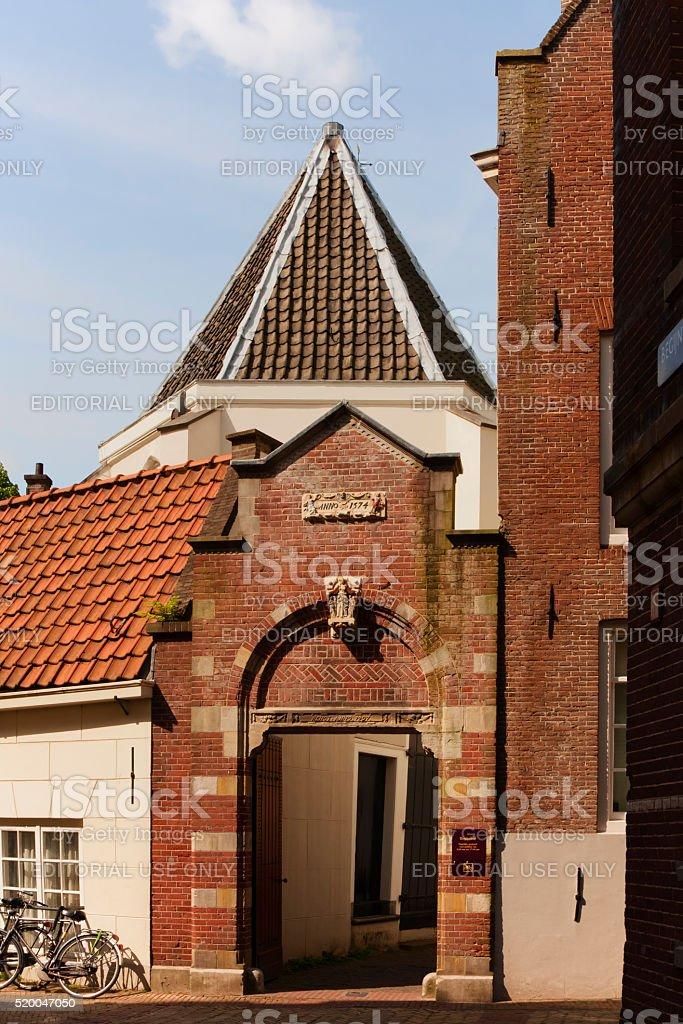Gate to the Begijnhof. Amsterdam. Netherlands. stock photo