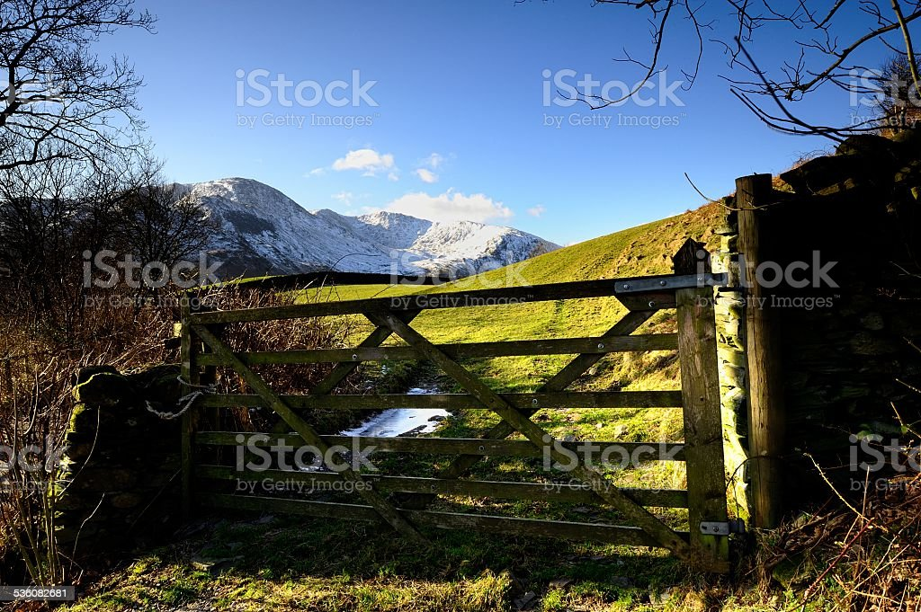 Gate to the Fells stock photo