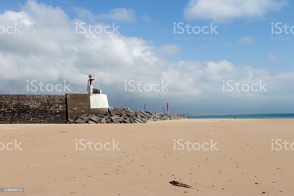 Gate to the ocean royalty-free stock photo