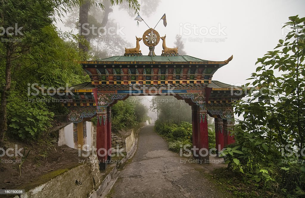 Gate to the temple stock photo