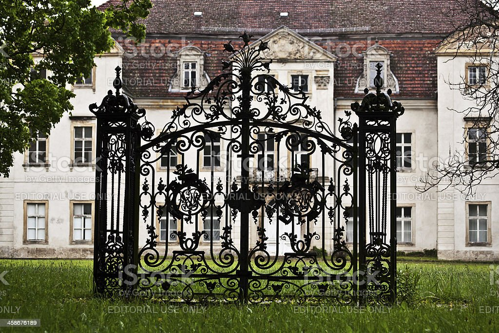 Gate without a fence royalty-free stock photo