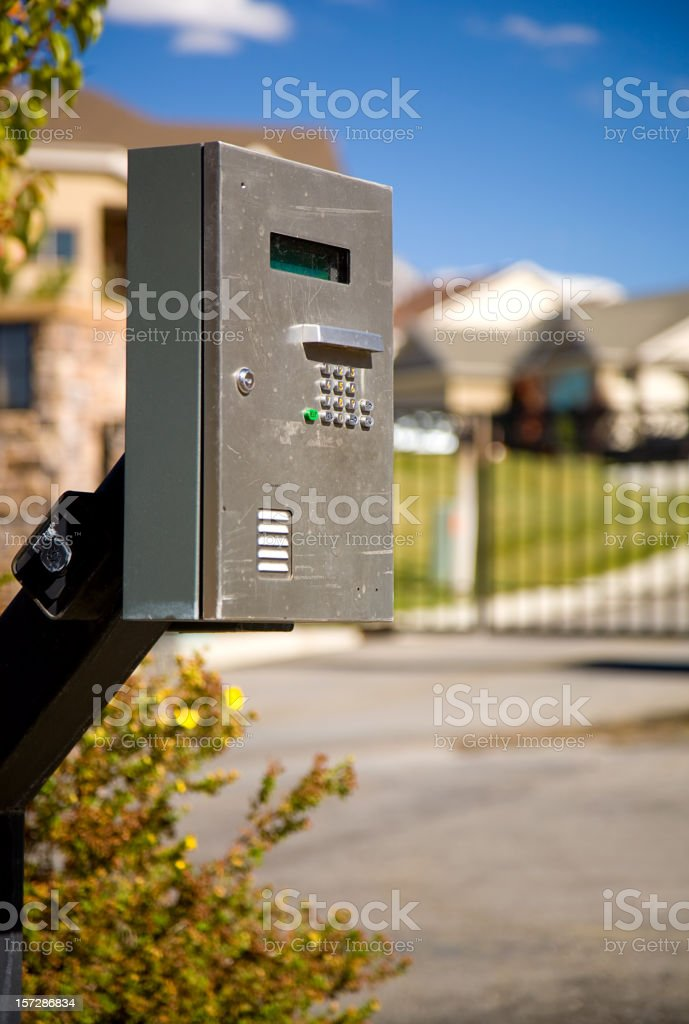 Gated Community royalty-free stock photo