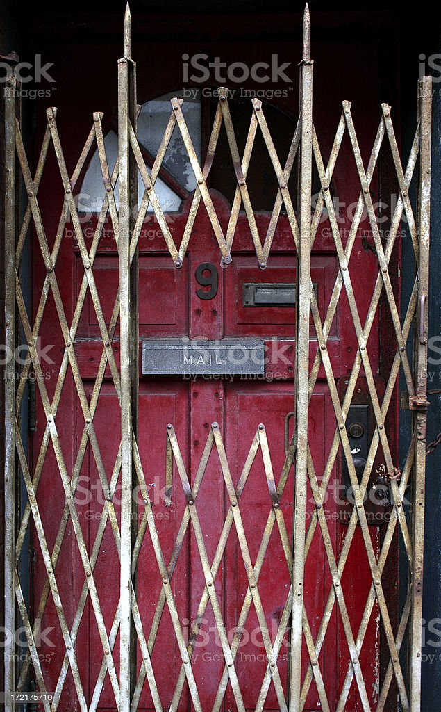 gated entry royalty-free stock photo