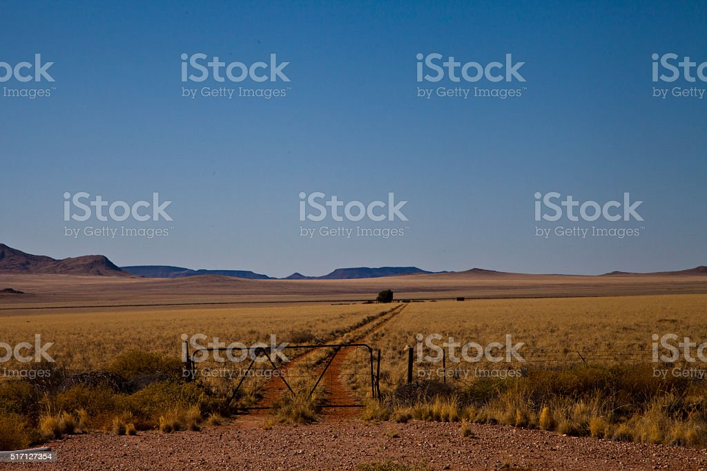 Gated nowhere stock photo