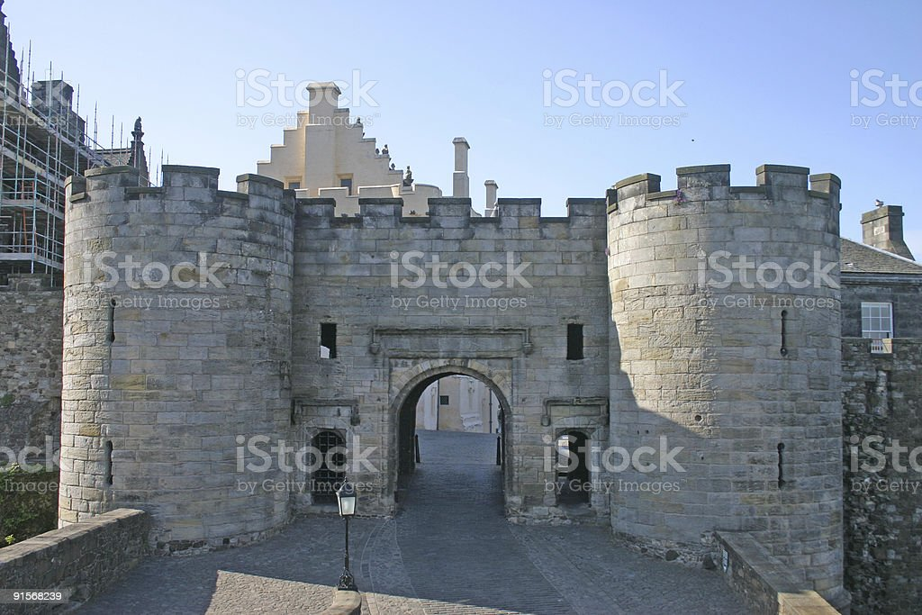 Gatehouse of Stirling Castle in Scotland stock photo