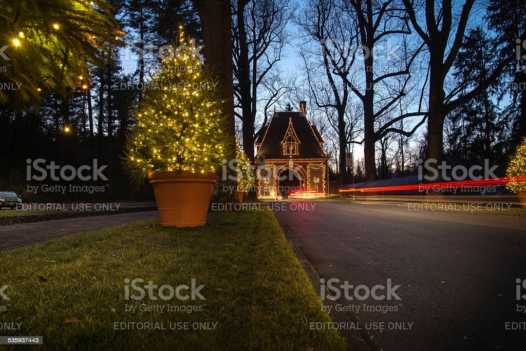 Gatehouse of the Biltmore Estate stock photo