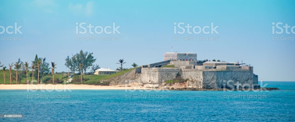 Gates Fort and entrance to Saint Georges, Bermuda stock photo