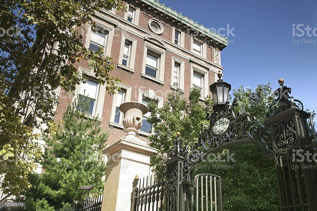 Gates To Columbia University royalty-free stock photo