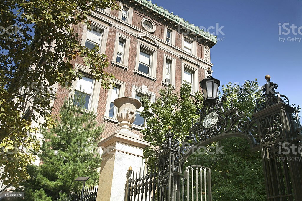 Gates To Columbia University stock photo