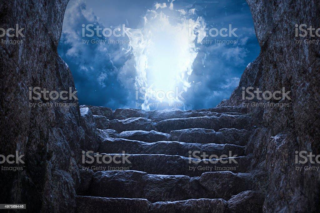 Gates to heaven light stock photo