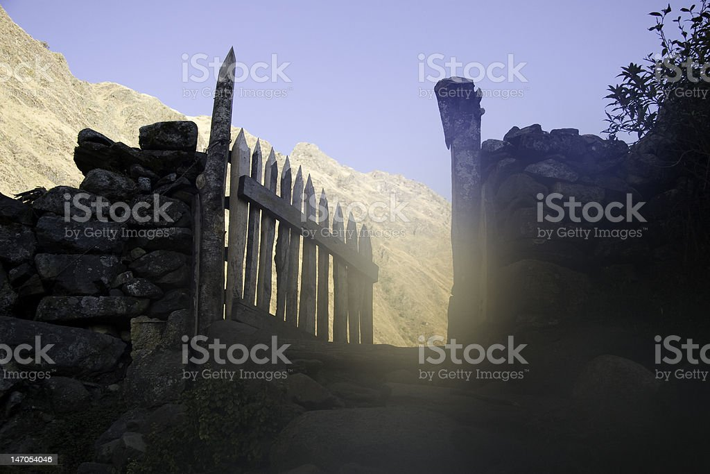 Gates to heaven stock photo