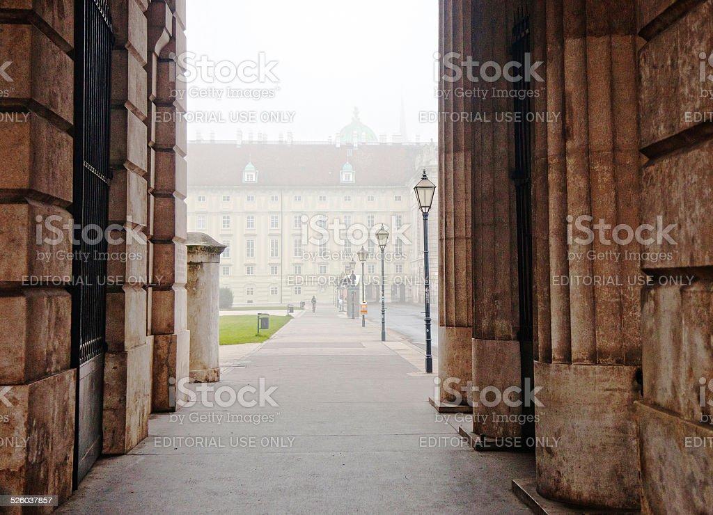 Gates to Hofburg imperial palace stock photo