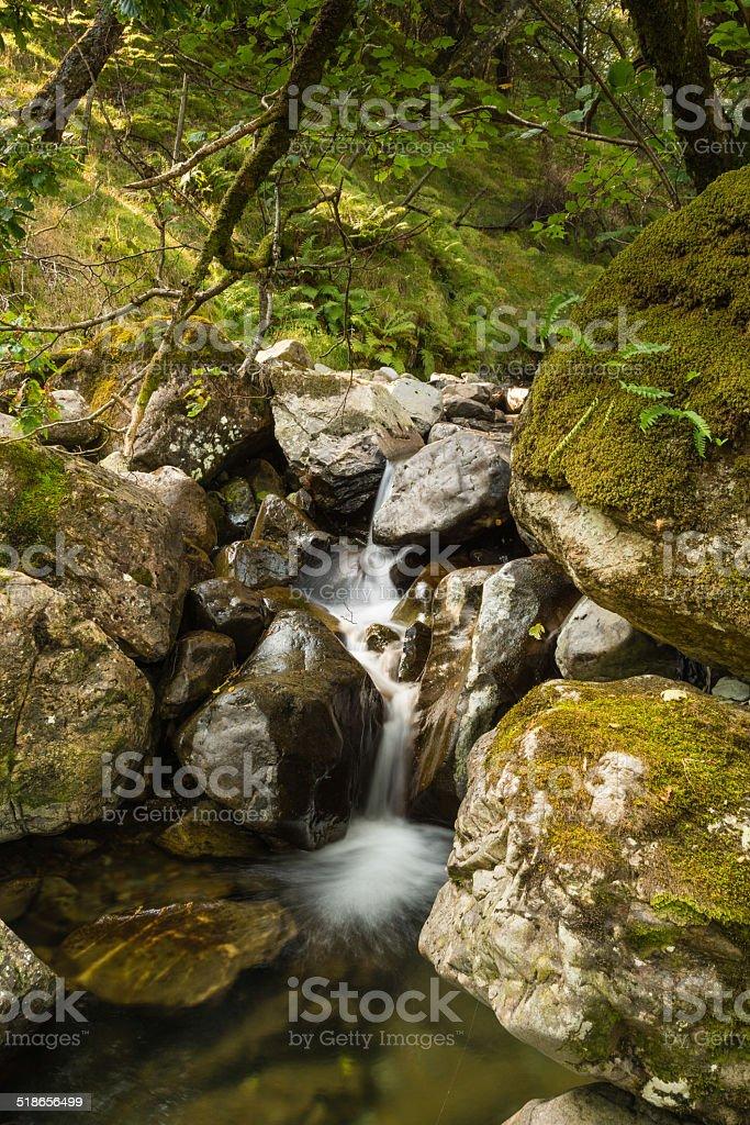 Gatesgarthdale Beck Waterfall stock photo