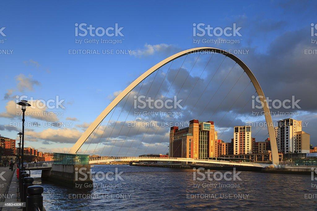 Gateshead Millenium Bridge royalty-free stock photo