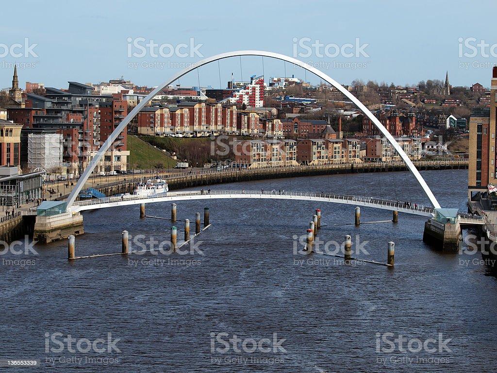 Gateshead Millennium Bridge, Newcastle royalty-free stock photo