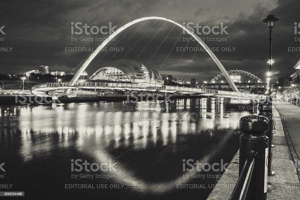 Gateshead Millennium Bridge stock photo