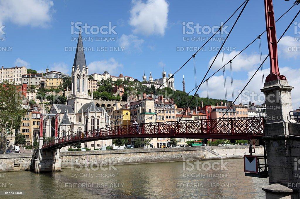 Gateway Abbé Paul Couturier in Lyon, France stock photo