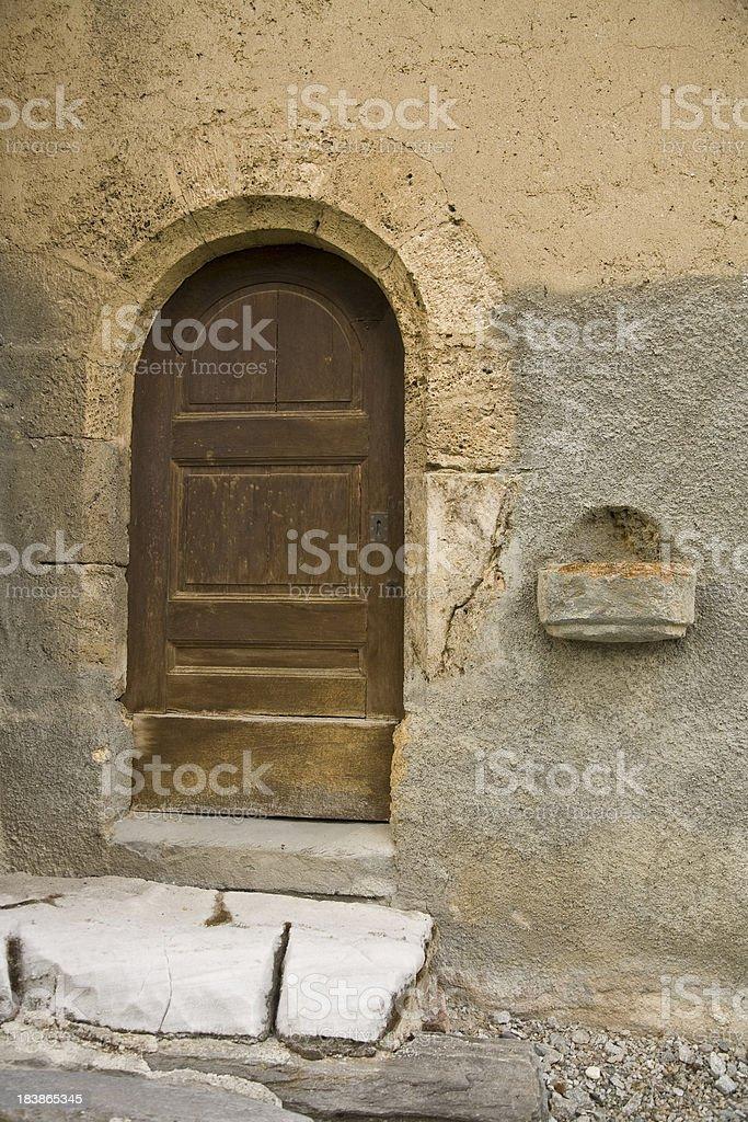 Gateway an old house in Piedmont Italian stock photo