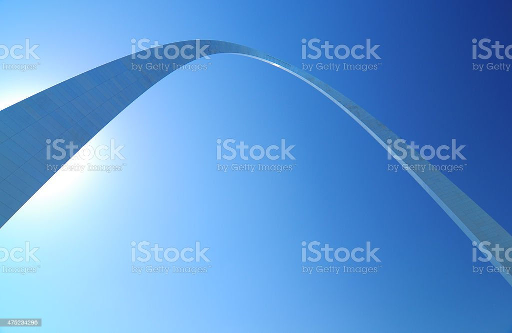 Gateway Arch, dramatic view, looking up at stock photo