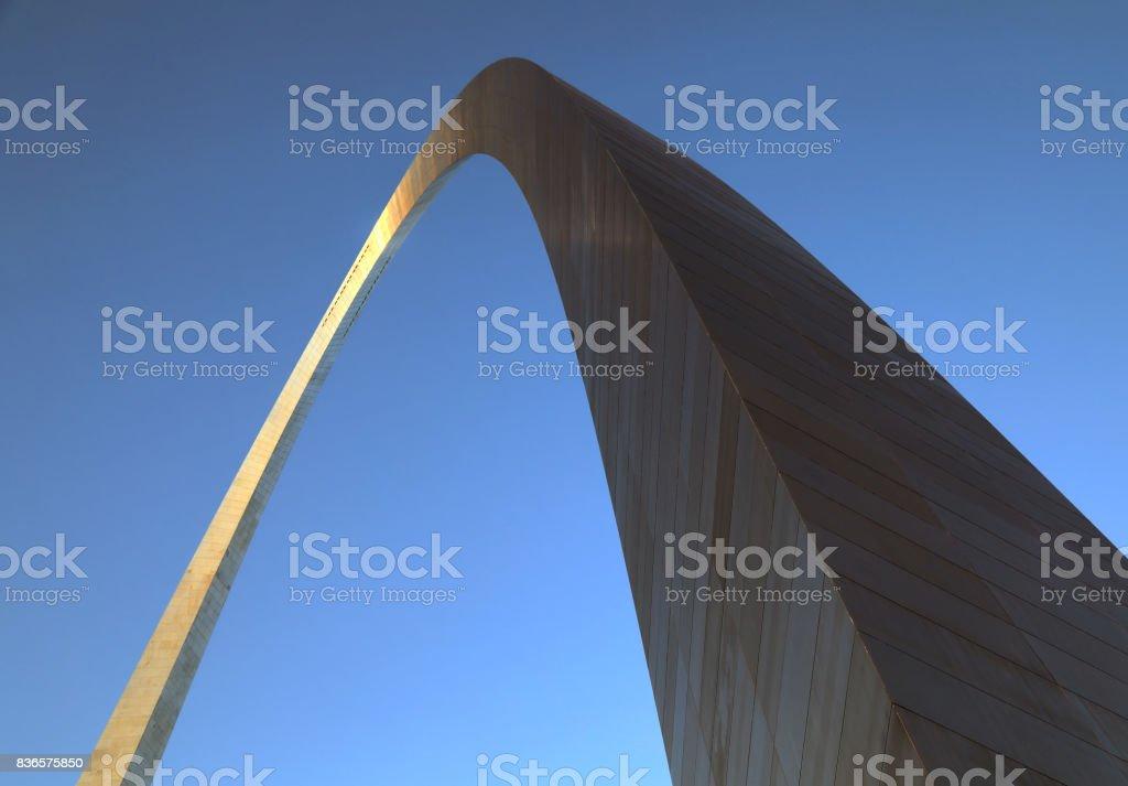 Gateway Arch in St. Louis, Missouri stock photo