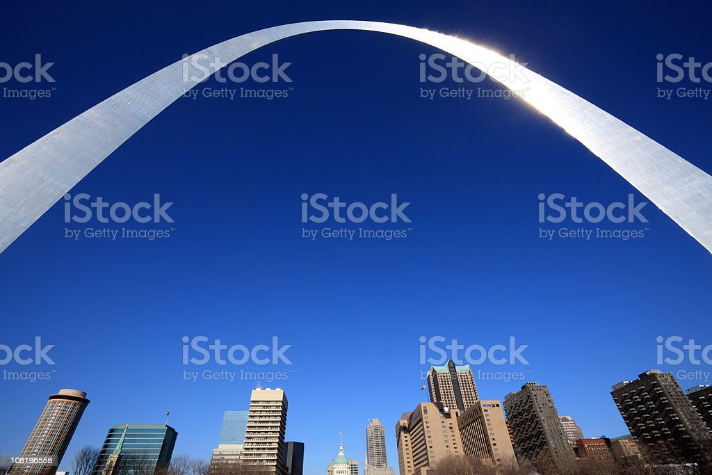 Gateway Arch, St. Louis, Missouri stock photo