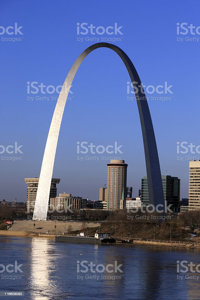 Gateway Arch, St. Louis, Missouri stock photo