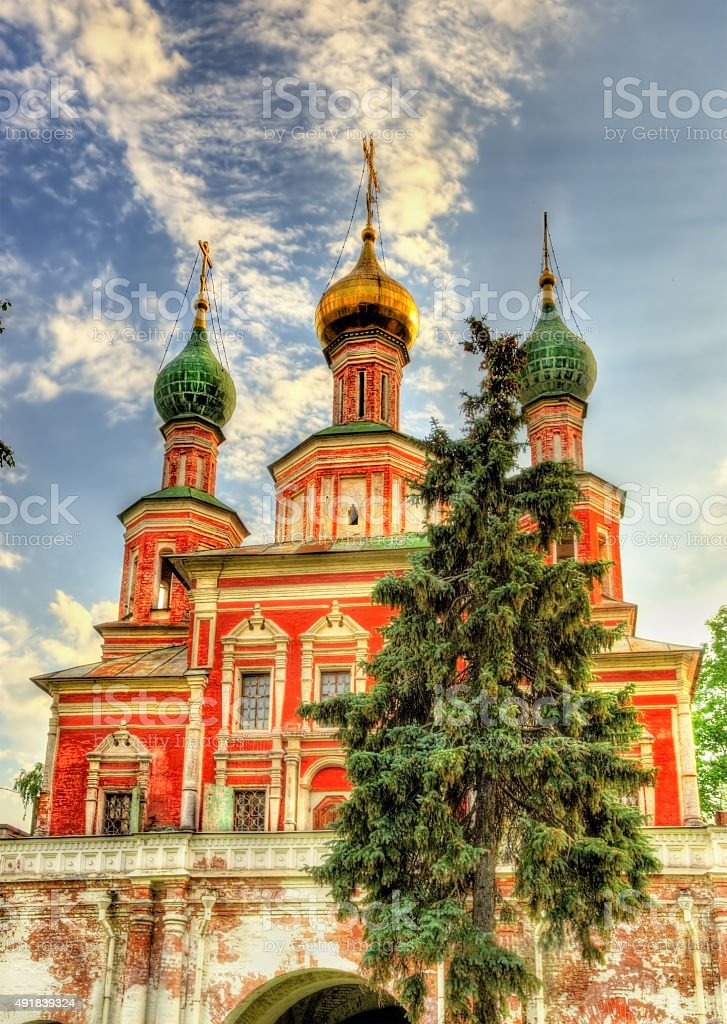 Gateway church of the Transfiguration at Novodevichy Convent - a stock photo