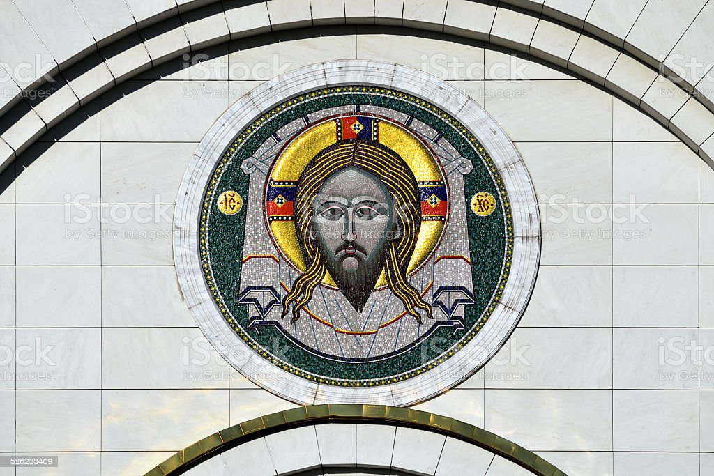 Gateway icon of Cathedral of Christ the Saviour. Kaliningrad, Ru stock photo