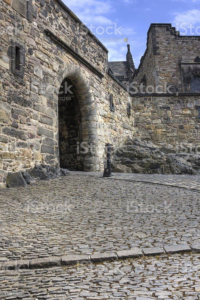 Gateway in Edinburgh Castle royalty-free stock photo