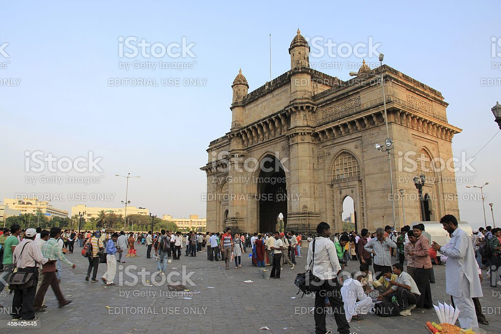 Gateway of India in Mumbai stock photo