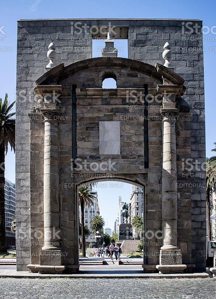 Gateway of the Citadel Montevideo Uruguay stock photo
