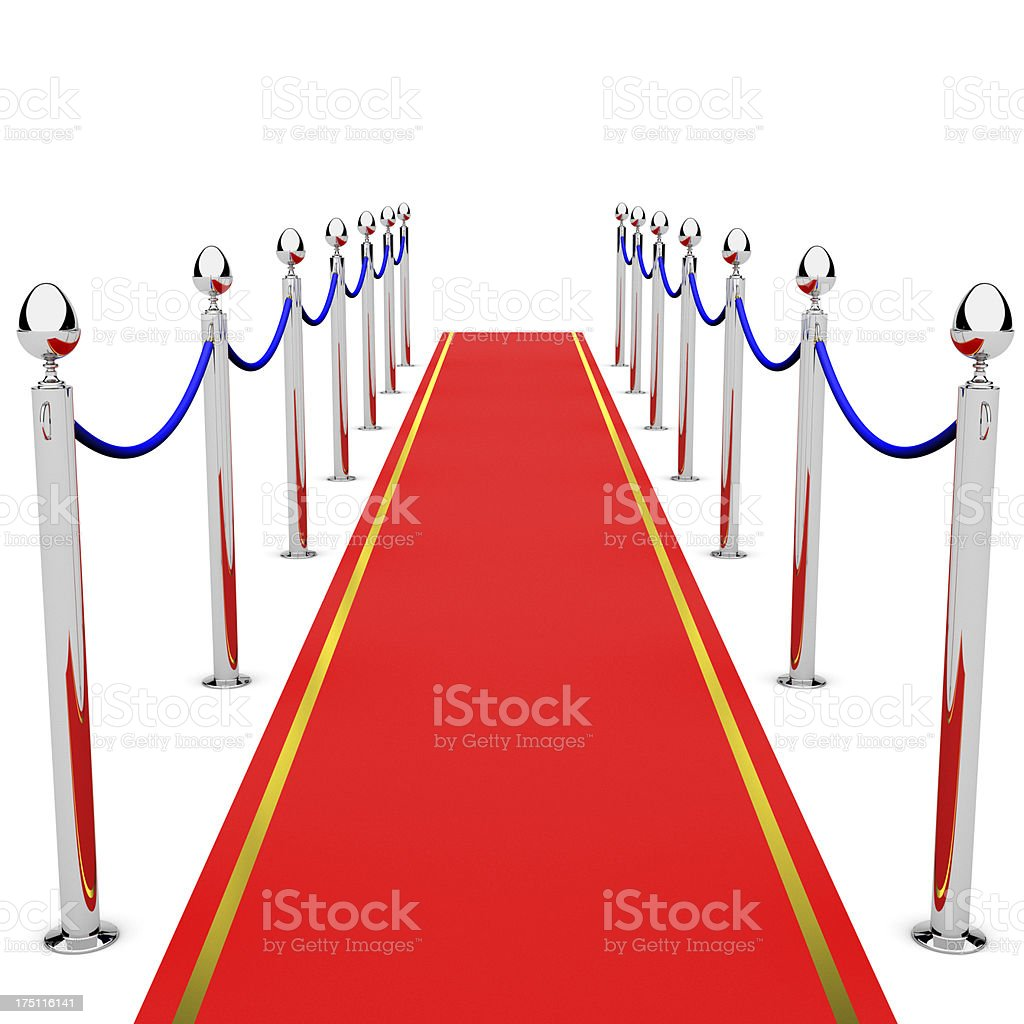 Gateway on the red carpet stock photo