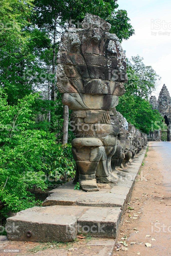Gateway to Angkor Thom stock photo