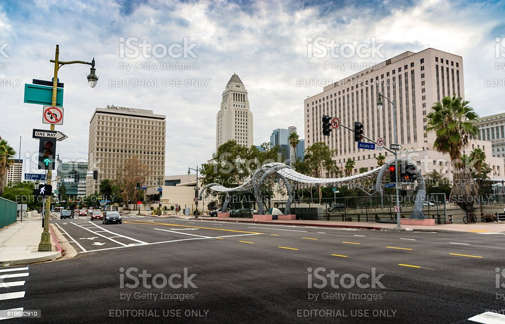 Gateway to Los Angeles Crossroads stock photo