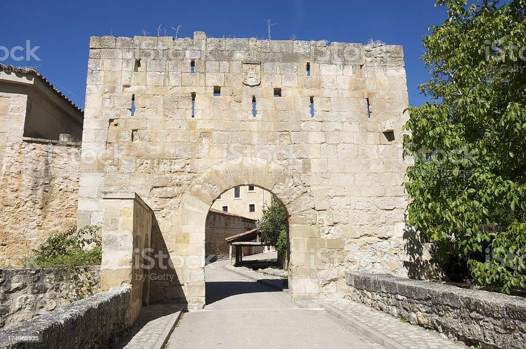 Gateway to Santo Domingo of Silos (Burgos) stock photo